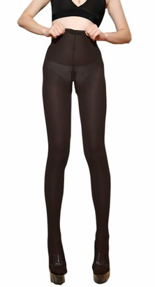 LinvMe Women's Sexy Sheer Ice Silk Leggings Crotchless Lingerie Black
