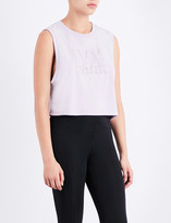 Ivy Park Ladies Lilac Cropped Logo Jersey Top