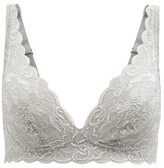 Thumbnail for your product : Hanro Moments Lace Soft-cup Bra - Grey