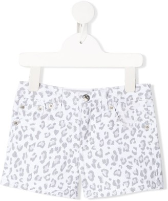 Levi's Animal-Print Denim Shorts