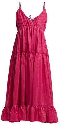 Loup Charmant Carino Silk Midi Dress - Pink