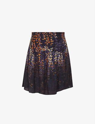 Reiss Alana ruffled crepe mini skirt