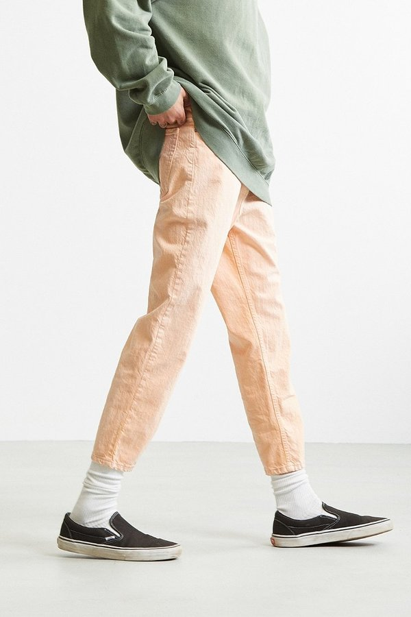 BDG Melon Acid Wash Straight Cropped Jean