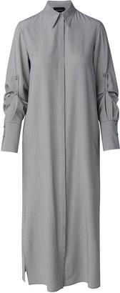 Akris Silk-Crepe Shirt Dress