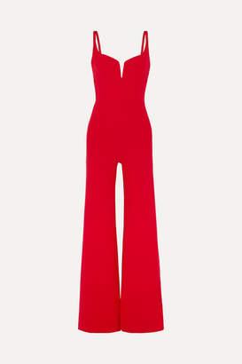 Galvan Signature Crepe Jumpsuit - Red