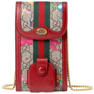 Gucci Ophidia GG Flora Chain Wallet