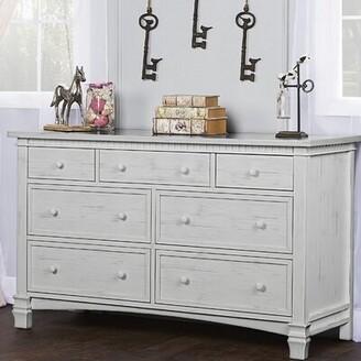 Three Posts Conyers 7 Drawer Dresser Color: Antique Mist