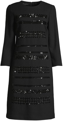 Lafayette 148 New York Giovanetta Embellished Dress