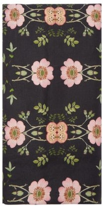 Preen by Thornton Bregazzi 200cm X 140cm Floral-print Linen Tablecloth - Black Print