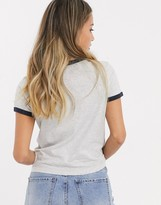 Brave Soul claudia t shirt with contrast trim