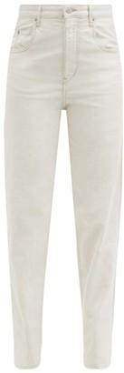 Etoile Isabel Marant Corfy High-rise Tapered-leg Jeans - Ivory