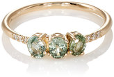 Jennie Kwon Women's Green Sapphire Fan Ring