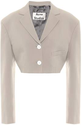 Acne Studios Cropped jacquard blazer