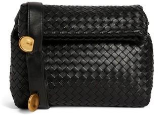 Bottega Veneta Leather Intrecciato Fold Cross-Body Bag