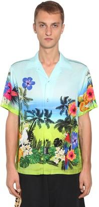 Versace Hawaii Print Viscose Bowling Shirt