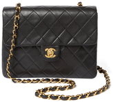 Chanel Vintage Black Quilted Lambskin Classic Flap Mini