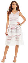 Gianni Bini Tracie Mesh A Line Dress