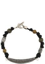Andrea D'Amico feather motif beaded bracelet