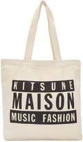 MAISON KITSUNÉ Ssense Exclusive Off-white Maison 18 Tote