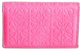 Loewe Women's Debossed Calfskin Leather Business Card Holder - Pink