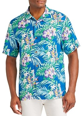 Tommy Bahama Hilo Gardens Regular Fit Short-Sleeve Silk Shirt