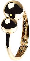 Adele Marie Asymmetric Ball Hinged Bracelet, Gold