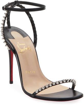 Christian Louboutin So Me Spike Red Sole Sandals