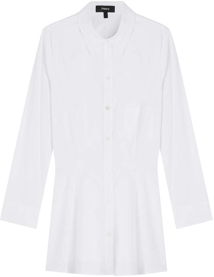 Theory Cotton Shirt with Peplum