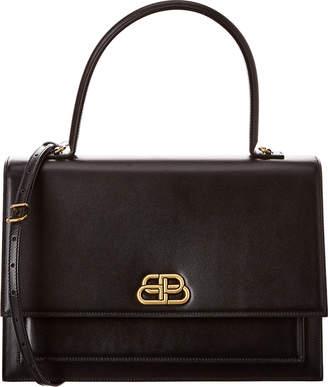 Balenciaga Sharp Large Leather Shoulder Bag