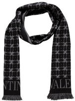 Valentino Houndstooth Wool Scarf