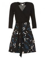 Diane von Furstenberg Wool Blend Wrap-over Dress