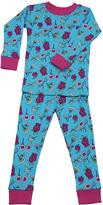New Jammies Blue Ottoman Flowers Organic Pajama Set - Infant & Kids