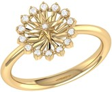 Lmj Starburst Ring In 14 Kt Yellow Gold Vermeil On Sterling Silver