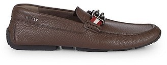 Bally BB Horsebit Leather Driver Loafers