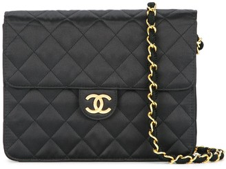 Chanel Pre Owned 1989-1991 Quilted CC logo single chain shoulder bag