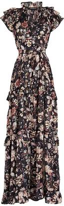 Sabina Musayev Gia Floral Chiffon Maxi Dress