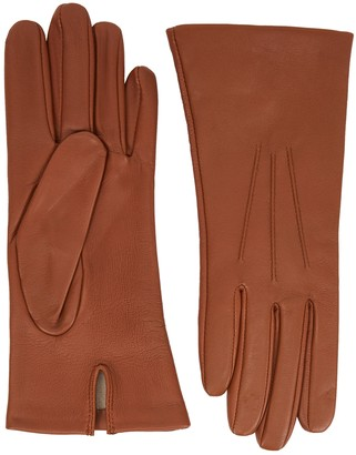 Dents Felicity Brown Leather Gloves