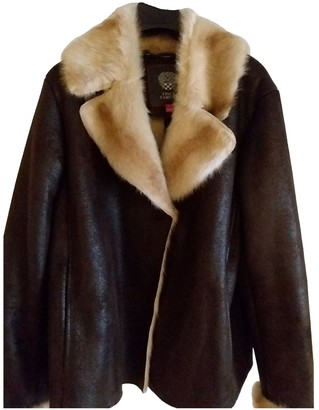 Vince Camuto Brown Faux fur Leather Jacket for Women