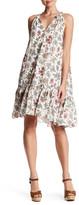 Max Studio Split Neck Sleeveless Dress