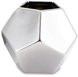 Global Views Faceted Decorative Vase - Silver 10""
