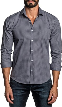 Jared Lang Regular Fit Paisley Button-Up Shirt