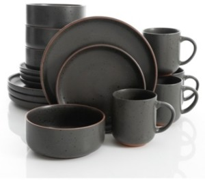 Gibson Black Sand 16-piece Dinnerware Set, Service for 4