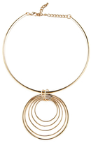 Kenneth Jay Lane Multi-Circle Pendant Necklace