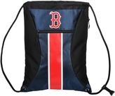 Forever Collectibles Boston Red Sox Striped Zipper Drawstring Backpack