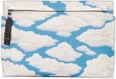 Loewe cloud print clutch - women - Leather - One Size