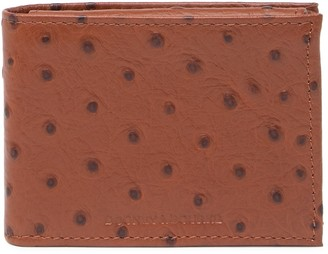 Dooney & Bourke Bifold Ostrich Embossed Leather Wallet