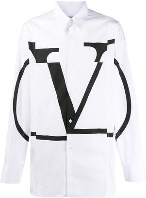 Valentino patchwork logo shirt