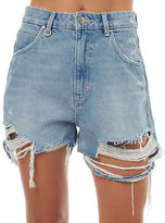 Neuw New Women's Womens Lola Short Cotton Fitted Blue