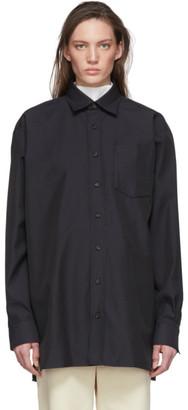 Acne Studios Black Twill Oversized Shirt