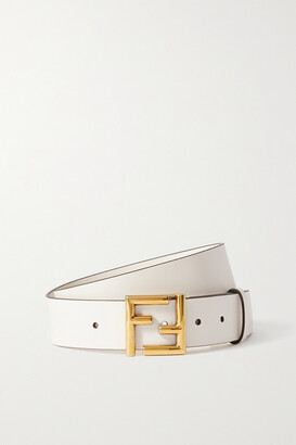 Fendi Leather Waist Belt - White